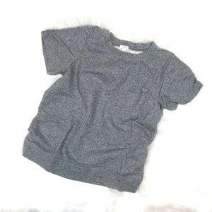 j.crew pullover sweater shirt gray cotton tee